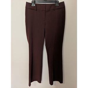 Ann Taylor LOFT Berry Red/Purple Julie Trousers, 8